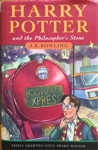 First Illustrated Book Cover : Harry potter and the philosopher s stone first edition